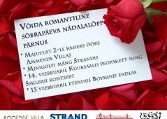 Võida romantiline sõbrapäeva nädalalõpp Pärnus!
